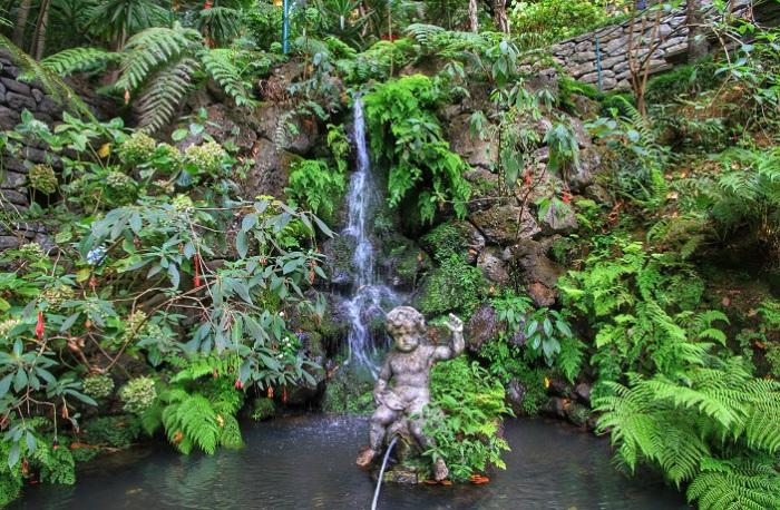Площадь парка на Мадейре небольшая, но за счет сложного рельефа, оврагов, мостов и разнообразия архитектурного и растительного наполнения, сад кажется значительно больше. Фотограф - Татьяна Лискер.